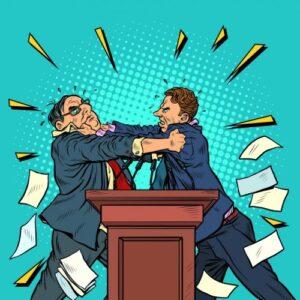 politician fight